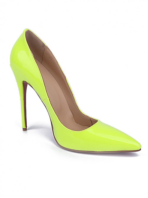 Chicregina Womens Closed Toe Stiletto Heel Patent Leather Party Shoes