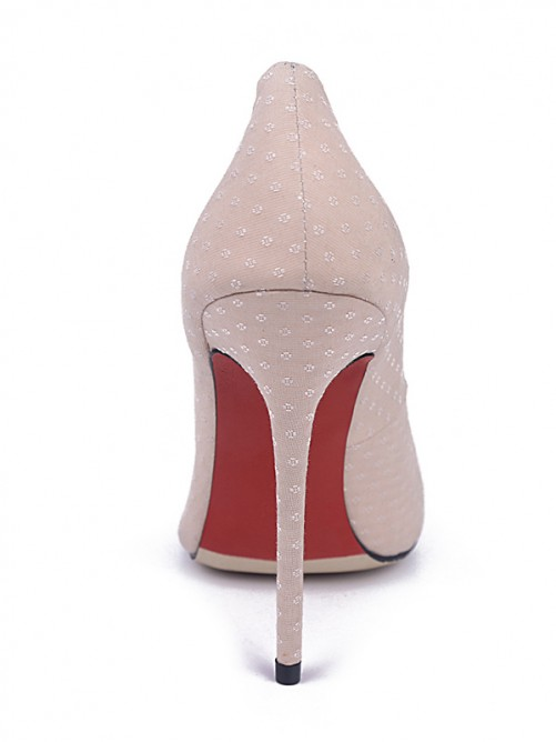 Chicregina Womens Pearl Pink Closed Toe Stiletto Heel Evening Shoes