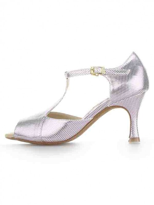 Chicregina Womens Satin Peep Toe Spool Heel Sandal Shoes with Buckle