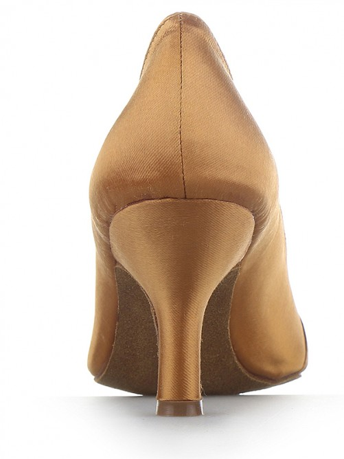 Chicregina Womens Closed Toe Satin Cone Heel Party Shoes