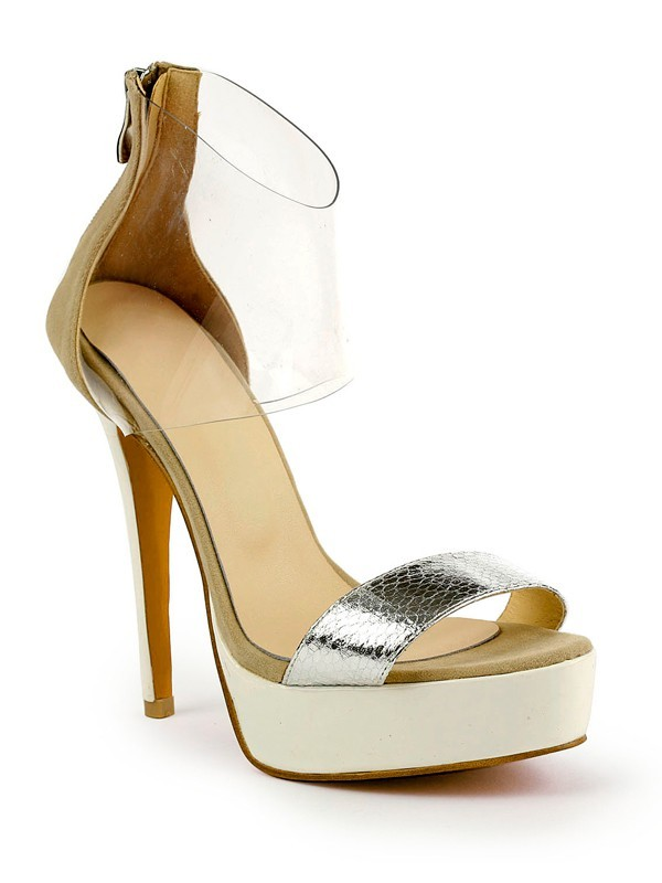 Chicregina Womens Stiletto Heel Patent Leather Peep Toe Platform Sandal Shoes