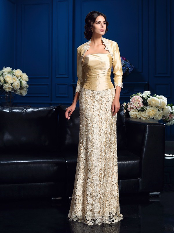 Chicregina Long A-Line/Princess Strapless Lace Mother Of The Bride Dress with Sequin