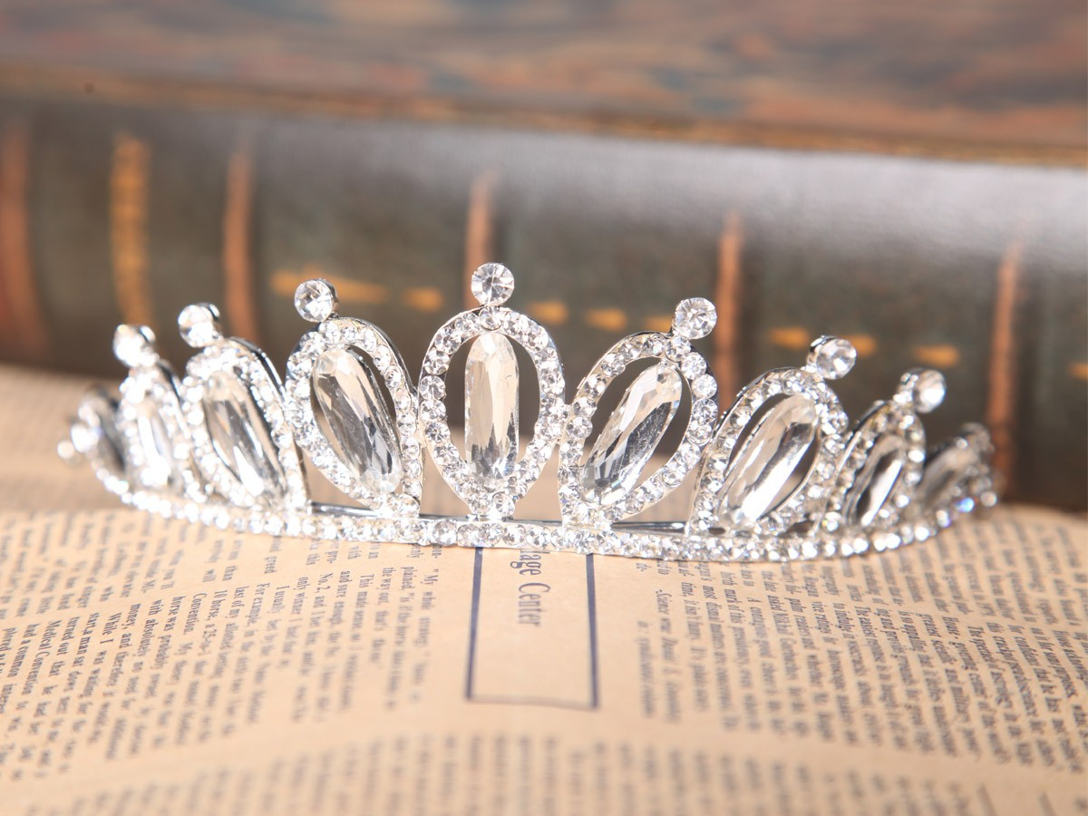 Elegant Clear Czech Wedding Headpieces