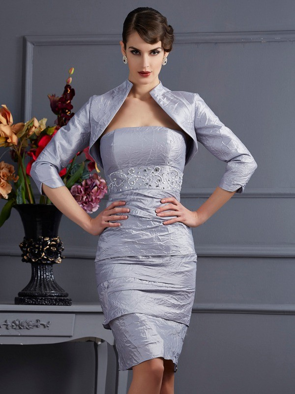 Women's Taffeta 3/4 Sleeves Special Occasion Wrap