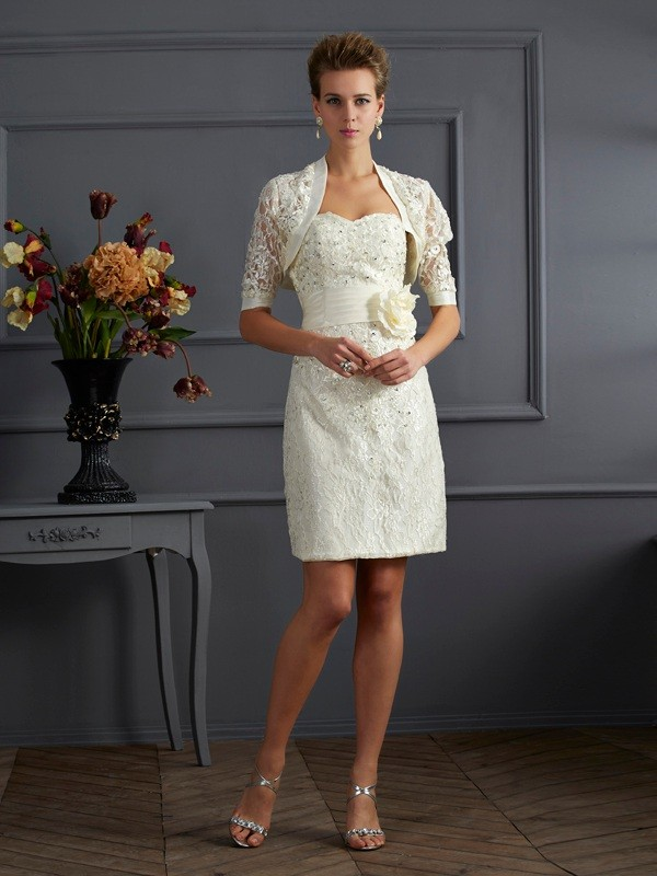 Women's Short Sleeves Lace Special Occasion Wrap