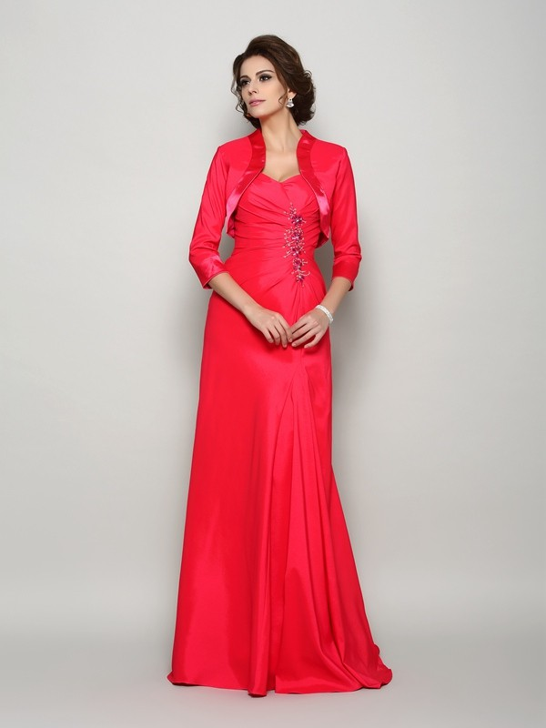 Women's 3/4 Sleeves Elastic Woven Satin Special Occasion Wrap