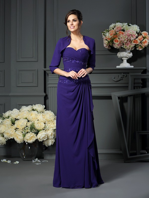 Women's 1/2 Sleeves Chiffon Special Occasion Wrap