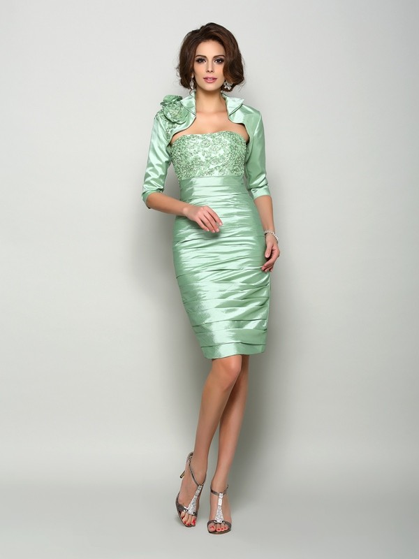 Women's 1/2 Sleeves Taffeta Special Occasion Wrap