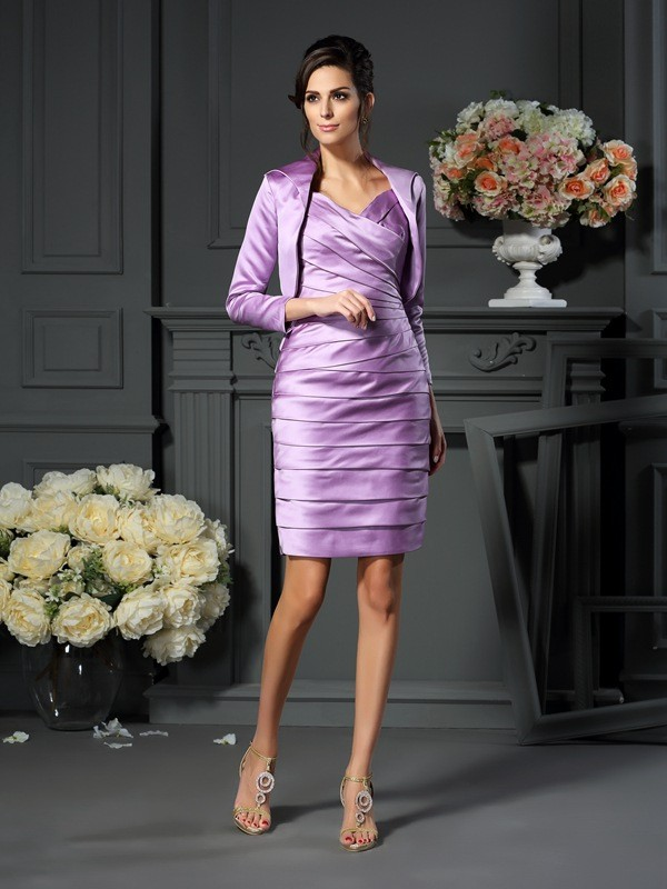 Women's 3/4 Sleeves Satin Special Occasion Wrap