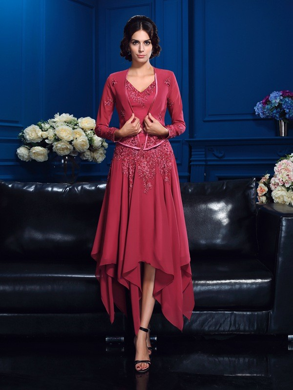 Women's Long Sleeves Chiffon Applique Special Occasion Wrap