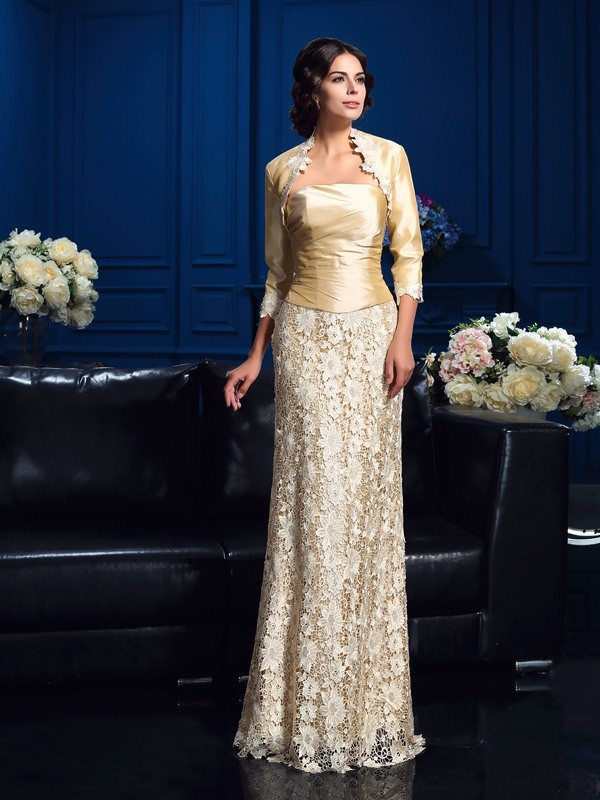 Women's 3/4 Sleeves Lace Taffeta Special Occasion Wrap
