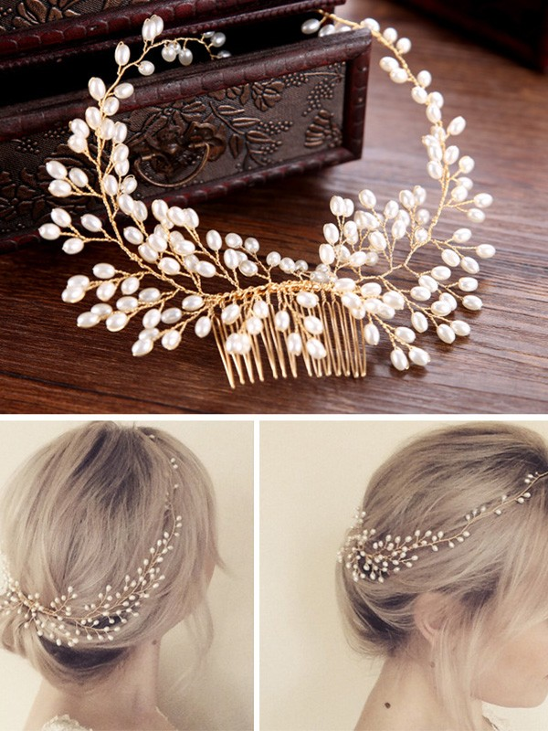 Stylish Czech Pearl Headpieces