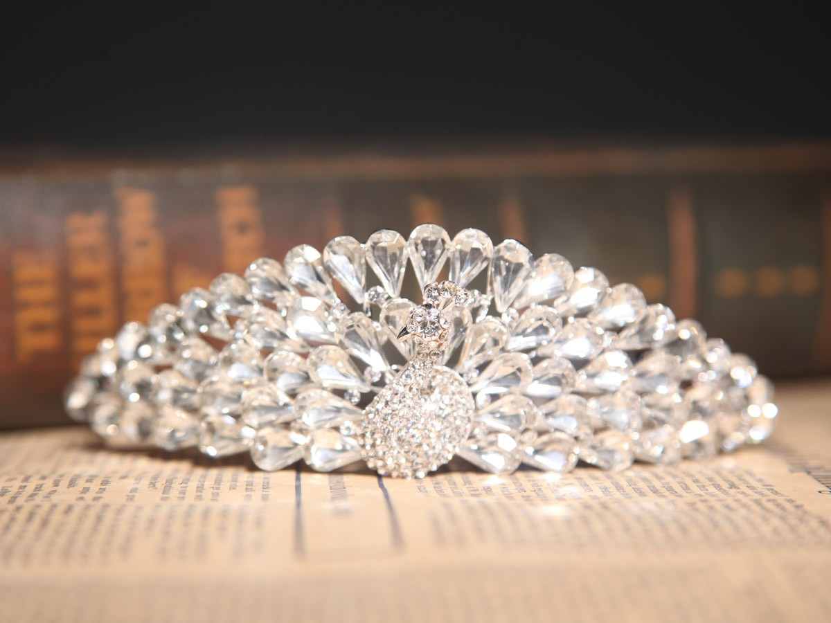 Stunning Czech Rhinestones Wedding Headpieces