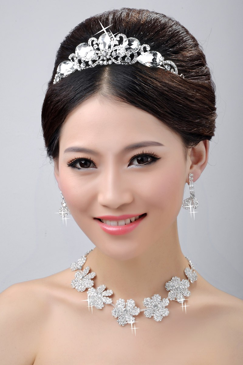 Beautiful Wedding Headpieces Necklaces Earrings Set